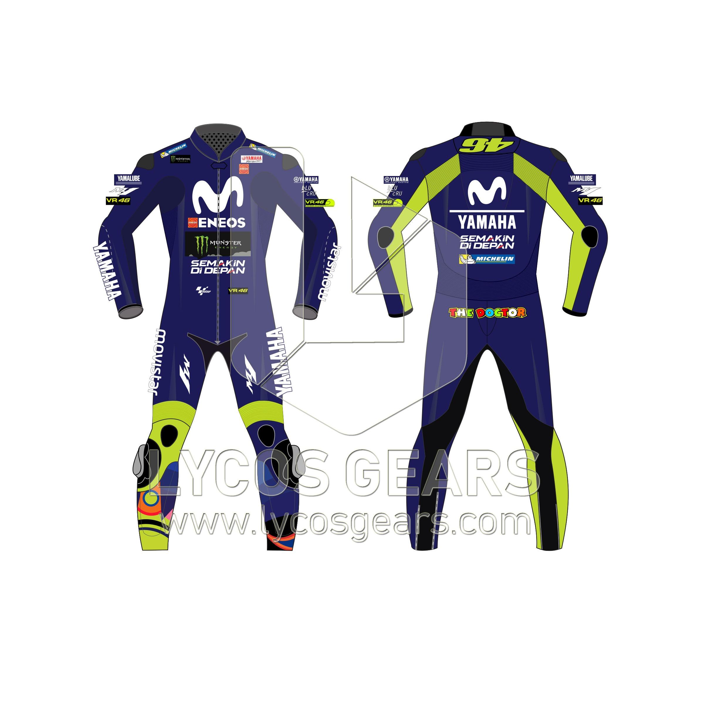 valentino rossi motorcycle suit motogp2018