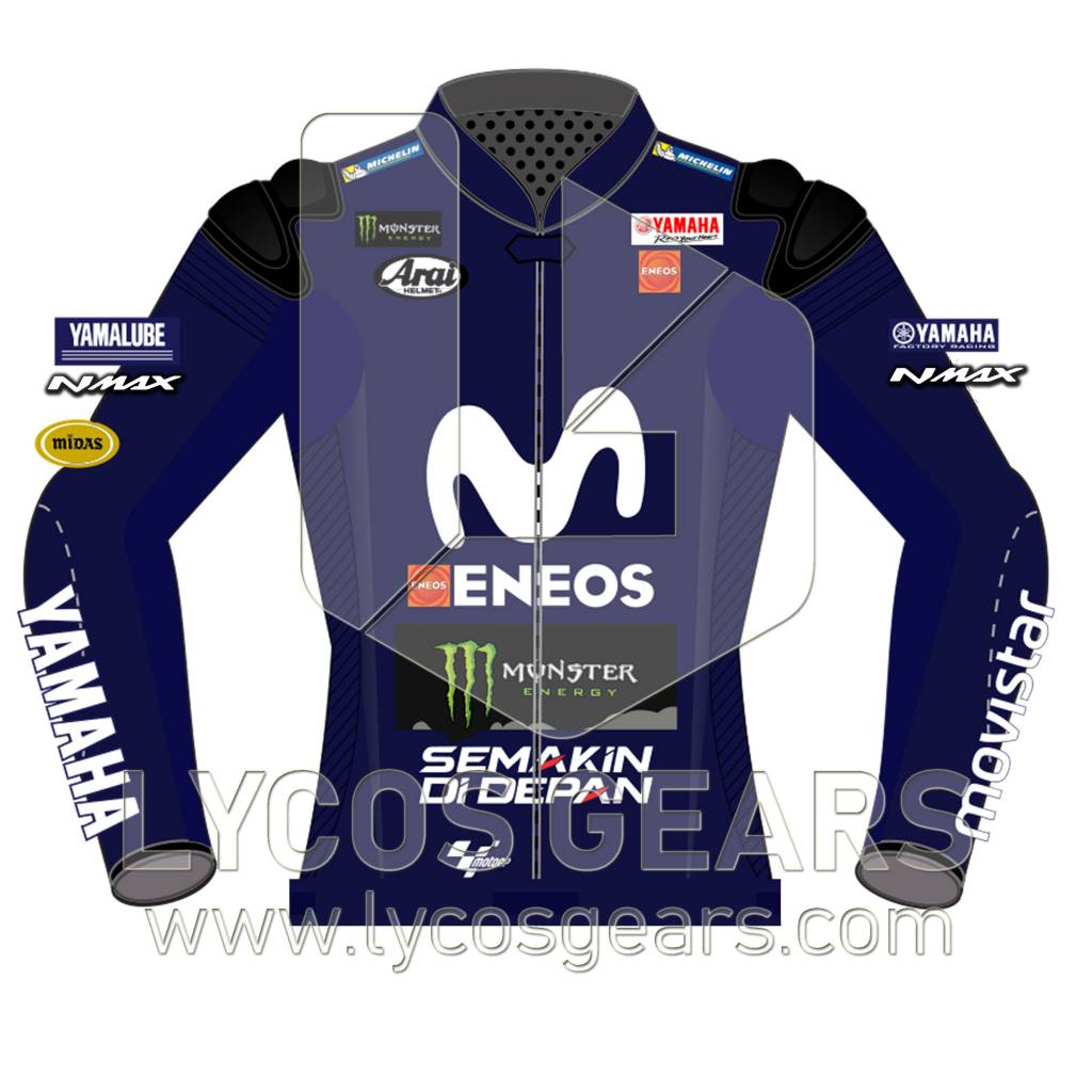 Maverick Vinales Motorcycle Leather Jacket 2018