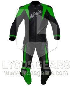 Kawasaki Ninja Motorbike Racing Leather Suit