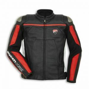 Ducati Corse Motorbike Leather Jacket - New 2019