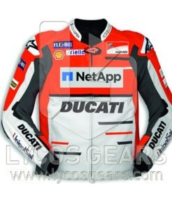 Ducati Motorcycle Racing Leather Jacket