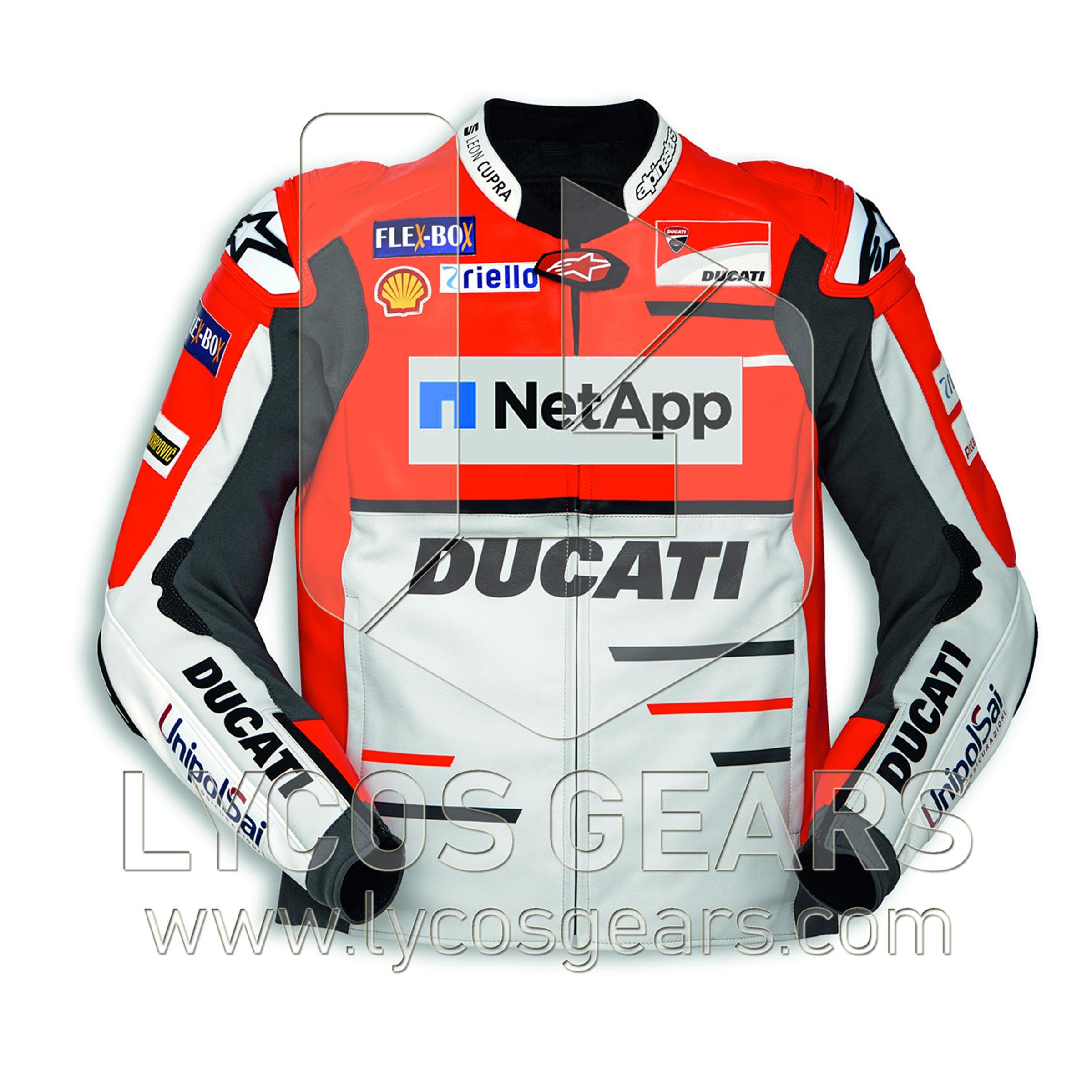 Ducati Motorcycle Racing Leather Jacket