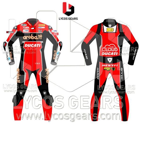 Aruba.it Alvaro Bautista WSBK 2019 Ducati Racing Suit