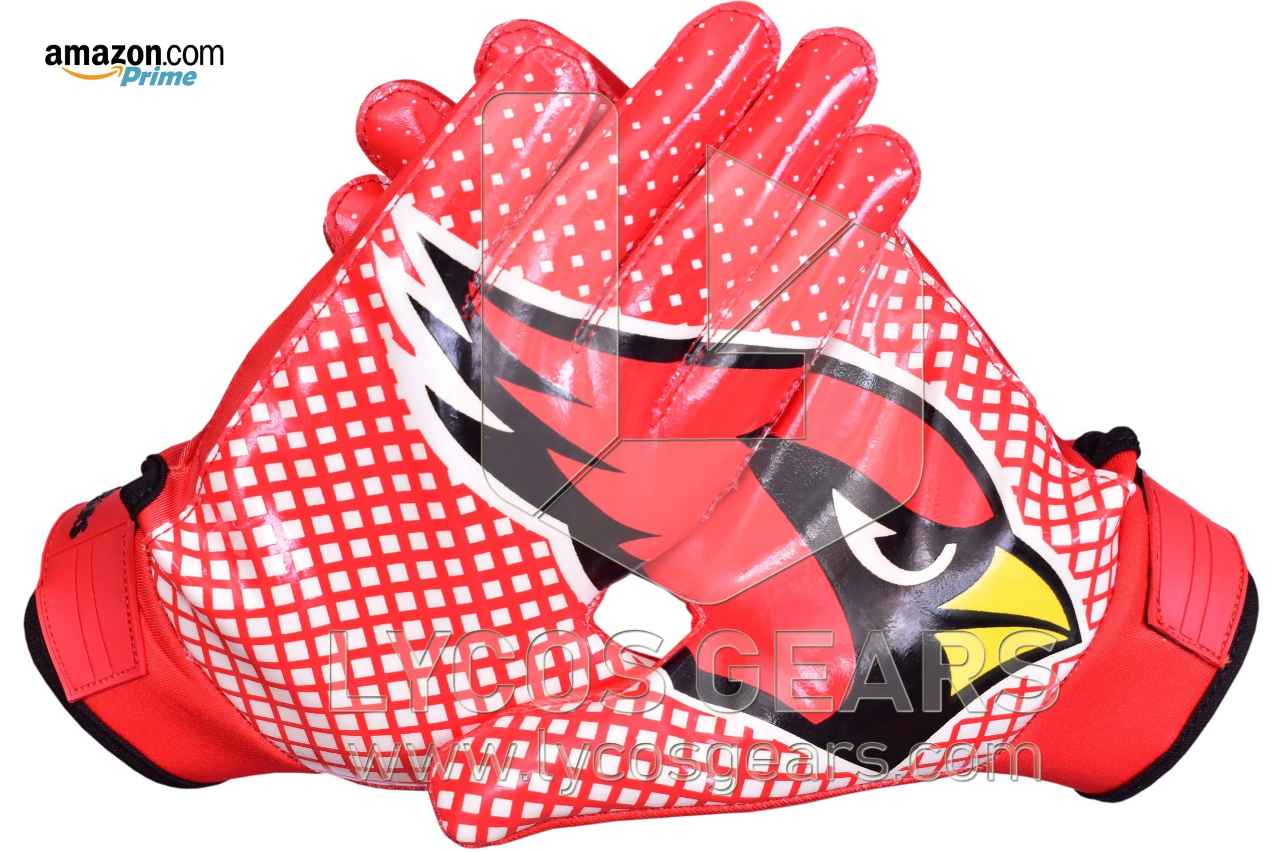 Arizona Cardinals Football Gloves Silicon Grip Receiver Gloves Lycos Gears