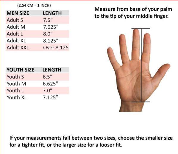 gloves sizes