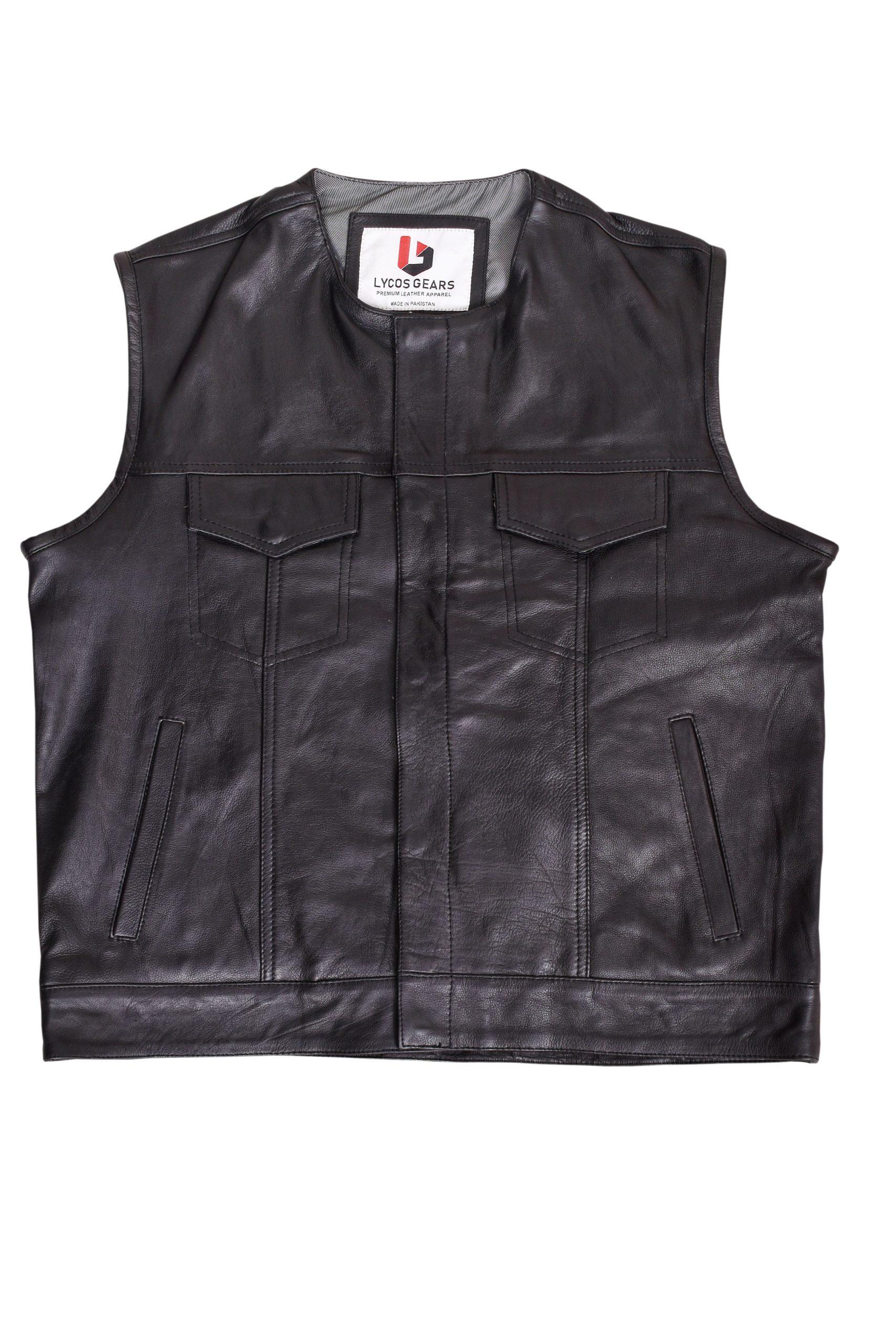 Leather Vest with Gun Pocket