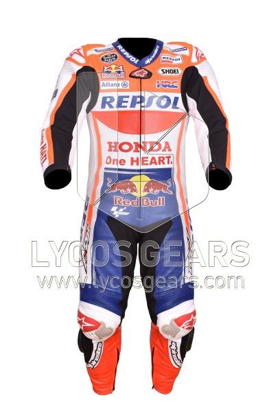 Marc Marquez Honda Repsol Racing Leather Suit 2019