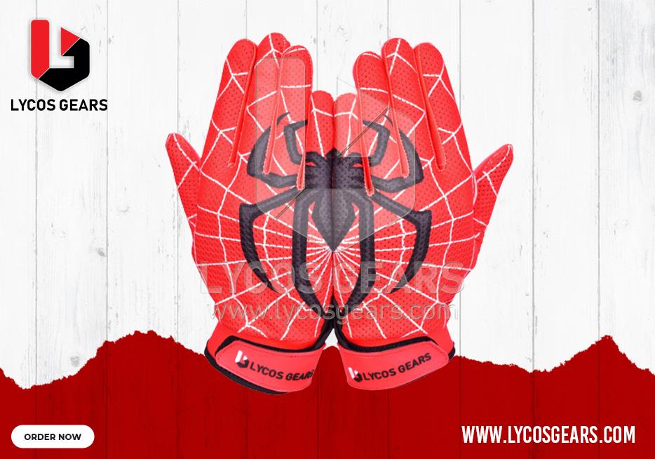 Spiderman football gloves